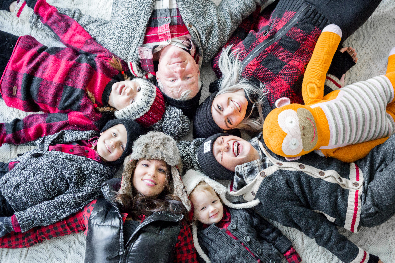 Social stepmom blended family celebrate christmas